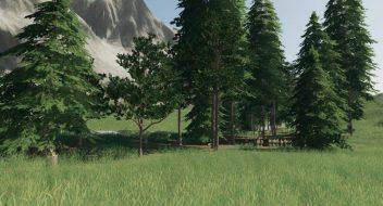 Улучшенные текстуры деревьев для Farming Simulator 2019