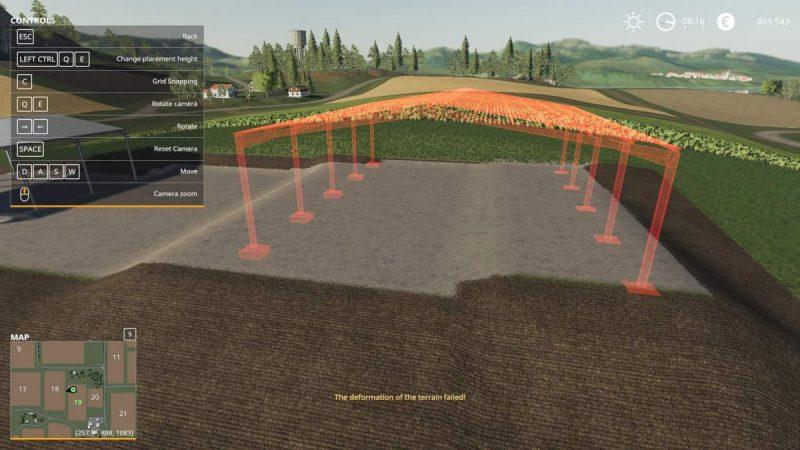 забетонировать землю в Farming Simulator 19