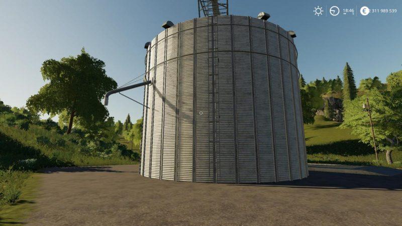 хранение урожая в Farming Simulator 19