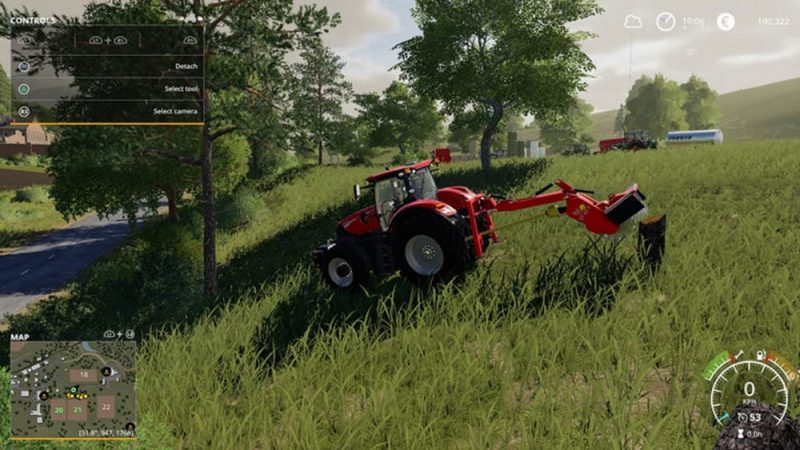 Как убирать пни и кусты в Farming Simulator 19