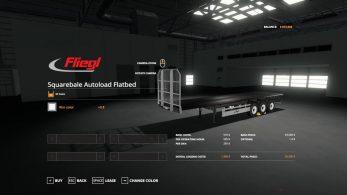 Fliegl Flatbed squarebale autoload – Скриншот 4